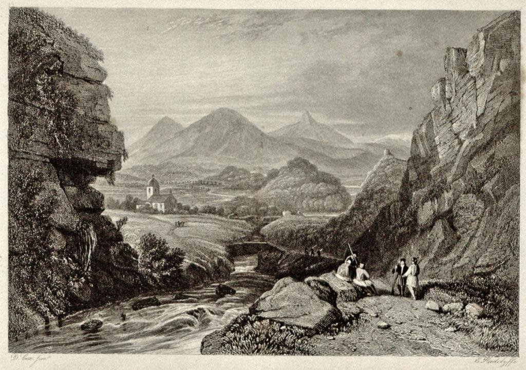 Scene on the Inachus, near Planitza, from a sketch by Herve