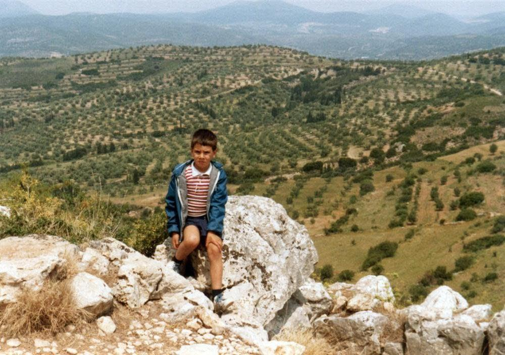 Me at Mycenae, 1982 (or 1981?)