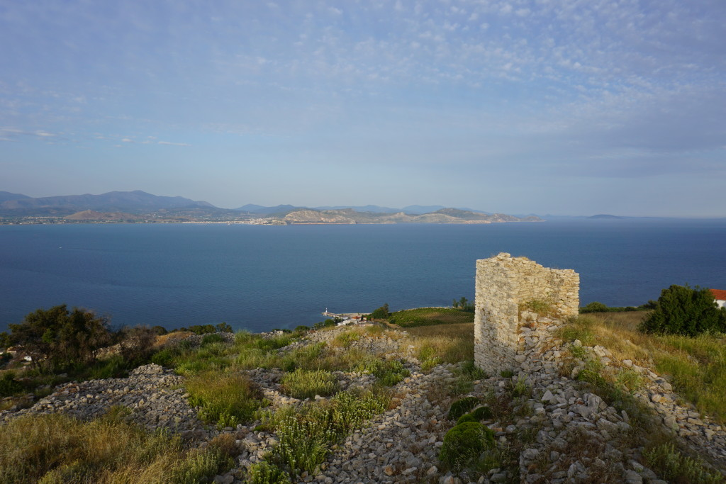 The castle, with Nafplio in the background