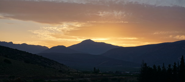 Sunset over Mount Artemision