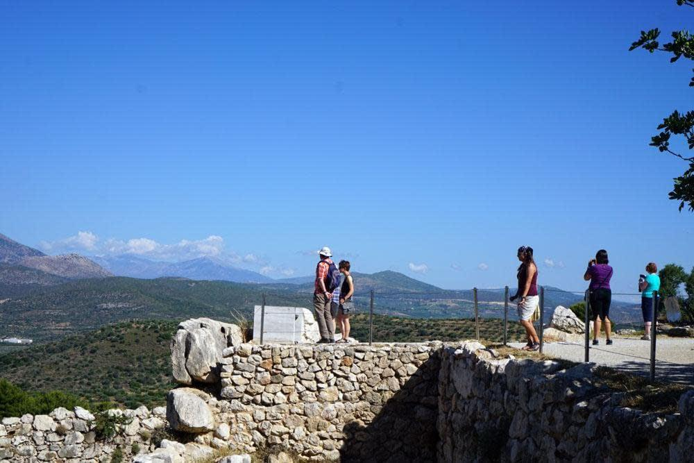 Mycenae, admiring the view