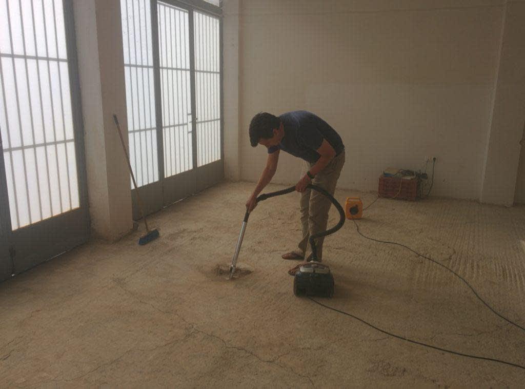 Dimitri vacuuming