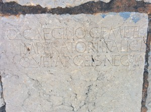 A 1st c. BC inscription built into the church